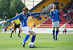 St Johnstone v Rangers... 30.07.11   SPL Week 2.Murray Davidson shoots wide.Picture by Graeme Hart..Copyright Perthshire Picture Agency.Tel: 01738 623350  Mobile: 07990 594431