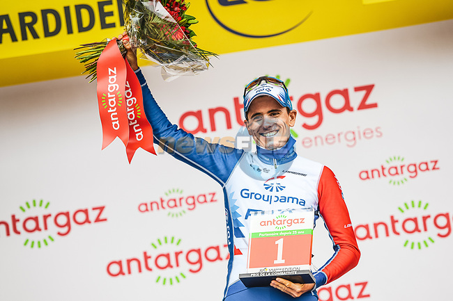 David Gaudu (FRA) Groupama-FDJ wins the day's combativity prize at the end of Stage 18 of the 2021 Tour de France, running 129.7km from Pau to Luz Ardiden, France. 15th July 2021.  <br /> Picture: A.S.O./Charly Lopez | Cyclefile<br /> <br /> All photos usage must carry mandatory copyright credit (© Cyclefile | A.S.O./Charly Lopez)