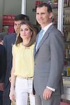 25.05.2012. Prince Felipe of Spain and Princess Letizia attend the inauguration of the Book Fair 2012 at the Retiro in Madrid. In the image Felipe de Borbon and Letizia Ortiz (Alterphotos/Marta Gonzalez)