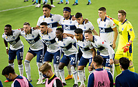 LOS ANGELES, CA - SEPTEMBER 23: Vancouver Whitecaps FC starting eleven vs LAFC during a game between Vancouver Whitecaps and Los Angeles FC at Banc of California Stadium on September 23, 2020 in Los Angeles, California.