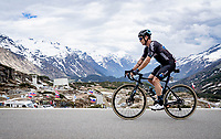 Nicolas Roche (IRE/DSM) up the Passo San Bernardino (2065m/SUI)<br /> <br /> 104th Giro d'Italia 2021 (2.UWT)<br /> Stage 20 (through Switzerland) from Verbania to Valle Spluga-Alpe Motta (164km)<br /> <br /> ©kramon