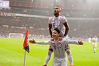 12.01.2018,  Football 1.Liga 2017/2018, 18. match day, Bayer Leverkusen - FC Bayern Muenchen, in BayArena Leverkusen.  James Rodriguez (u, FC Bayern Muenchen) and Arturo Vidal (FC Bayern Muenchen). *** Local Caption *** © pixathlon<br /> <br /> +++ NED + SUI out !!! +++<br /> Contact: +49-40-22 63 02 60 , info@pixathlon.de