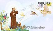 Randy, EASTER RELIGIOUS, OSTERN RELIGIÖS, PASCUA RELIGIOSA, paintings+++++Saint-Francis-Book-4-5,USRW149,#ER#