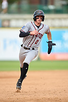 Quad Cities River Bandits Nick Loftin (2) running the bases during a game against the South Bend Cubs on August 20, 2021 at Four Winds Field in South Bend, Indiana.  (Mike Janes/Four Seam Images)