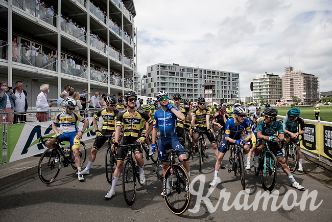 Remco Evenepoel (BEL/Deceuninck-QuickStep) waiting front row for the Race Start at the Waregem Hippodrome <br /> <br /> Belgian National Championships 2021 - Road Race<br /> <br /> One day race from Waregem to Waregem (221km)<br /> <br /> ©kramon