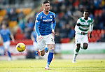 St Johnstone v Celtic...13.12.15  SPFL  McDiarmid Park, Perth<br /> An early chance for Michael O'Halloran as he goes through one on one with Craig Gordon only to see his shot saved<br /> Picture by Graeme Hart.<br /> Copyright Perthshire Picture Agency<br /> Tel: 01738 623350  Mobile: 07990 594431