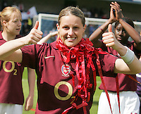 Arsenal vs Leeds United - Womens FA Cup Final at Millwall Football Club - 01/05/06 - Arsenal's Kelly Smith enjoys the moment - (Gavin Ellis 2006)
