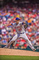 27 July 2013: New York Mets pitcher Dillon Gee on the mound against the Washington Nationals at Nationals Park in Washington, DC. The Nationals defeated the Mets 4-1. Mandatory Credit: Ed Wolfstein Photo *** RAW (NEF) Image File Available ***