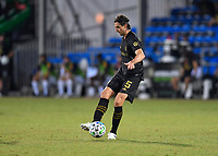 LAKE BUENA VISTA, FL - JULY 18: Dejan Jakovic #5 of LAFC passes the ball during a game between Los Angeles Galaxy and Los Angeles FC at ESPN Wide World of Sports on July 18, 2020 in Lake Buena Vista, Florida.