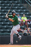 Wuilmer Becerra (31) of the Savannah Sand Gnats at bat against the Hickory Crawdads at L.P. Frans Stadium on June 14, 2015 in Hickory, North Carolina.  The Crawdads defeated the Sand Gnats 8-1.  (Brian Westerholt/Four Seam Images)