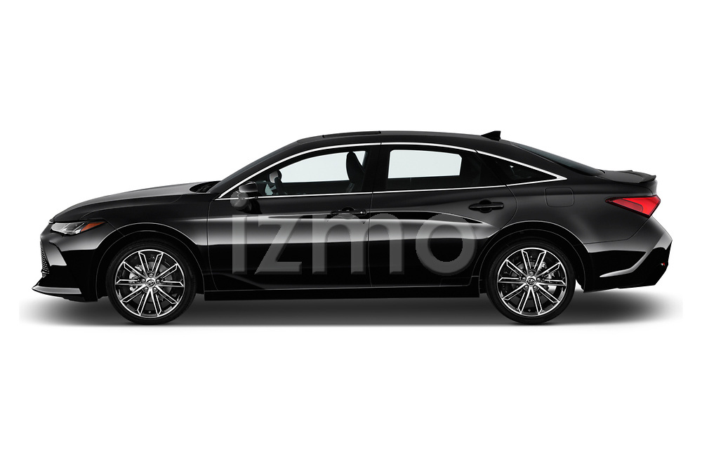 Car driver side profile view of a 2020 Toyota Avalon Touring 4 Door Sedan
