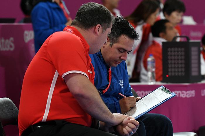 Lima 2019 - Wheelchair Basketball // Basketball en fauteuil roulant.<br /> Men's wheelchair basketball competes against Columbia // Le basketball en fauteuil roulant masculin contre Colombie. 25/08/2019.