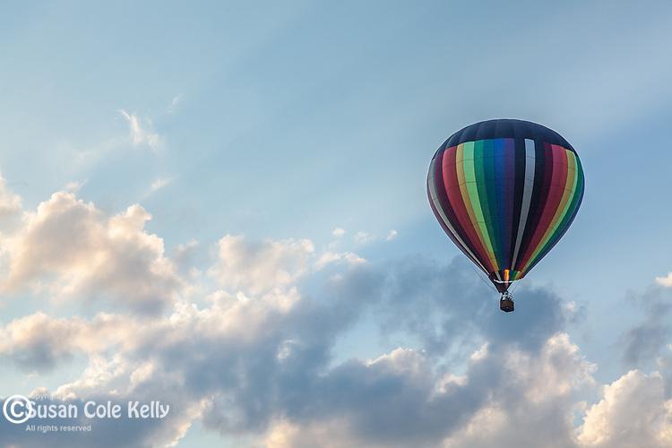 The Quechee Hot Air Balloon Festival in Quechee village, Hartford, VT, USA