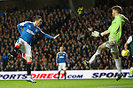 Nicky Clark scores the third goal for Rangers past keeper Mark Oxley