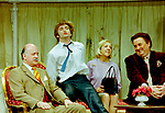Black Comedy by Peter Shaffer, directed by Gregory Doran. With Gary Waldhorn as Coolnel Melkett, David Tennant as Brindsley, Nicola McAuliffe as Miss Furnival, Desmond Barrit as Harold Gorringe. Opened at The Comedy Theatre 22/4/98. CREDIT Geraint Lewis