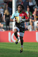 Marland Yarde of Harlequins in action during the Aviva Premiership match between Harlequins and Exeter Chiefs at The Twickenham Stoop on Saturday 7th May 2016 (Photo: Rob Munro/Stewart Communications)