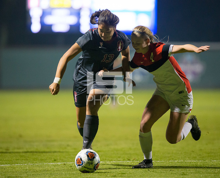 STANFORD, CA - November 9, 2018: Ceci Gee at Laird Q. Cagan Stadium. The top seeded Stanford Cardinal defeated the Seattle Redhawks 3-0 in the opening round of the NCAA tournament.