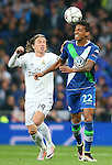 Real Madrid's Luka Modric (l) and WfL Wolfsburg's Luiz Gustavo during Champions League 2015/2016 Quarter-finals 2nd leg match. April 12,2016. (ALTERPHOTOS/Acero)