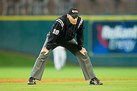 Third base umpire Chuck Bussie during the NCAA baseball game between the Houston Cougars and the Kentucky Wildcats at Minute Maid Park on March 5, 2011 in Houston, Texas.  Photo by Brian Westerholt / Four Seam Images