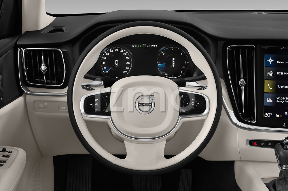 Car pictures of steering wheel view of a 2019 Volvo V60-Crosscountry - 5 Door Wagon Steering Wheel