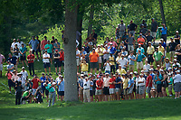 6th June 2021; Dublin, Ohio, USA; Collin Morikawa (USA) hits his approach shot out of the rough on the 2nd fairway during the final round of the Memorial Tournament at Muirfield Village Golf Club in Dublin, Ohio