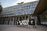 """15.07.2013 - """"Justice For Trayvon Martin"""" - Demo outside the US Embassy"""