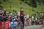 Egan Bernal (COL) Team Ineos wins Stage 3 of the Route d'Occitanie 2020, running 163.5km from Saint-Gaudens to Col de Beyrède, France. 3rd August 2020. <br /> Picture: Colin Flockton | Cyclefile<br /> <br /> All photos usage must carry mandatory copyright credit (© Cyclefile | Colin Flockton)