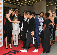 ANGELINA JOLIE WITH HER CHILDREN VIVIENNE, SHILOH, MADDOX, PAX AND ZAHARA - RED CARPET OF THE FILM 'FIRST THEY KILLED MY FATHER' - 42ND TORONTO INTERNATIONAL FILM FESTIVAL 2017