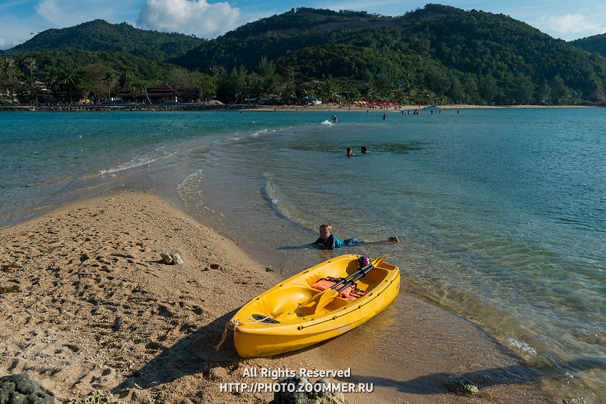 Little boy in Ko Ma beach near Phangan island, Thailand