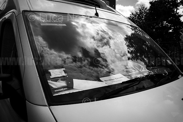 """""""Broken Down""""...<br /> <br /> London, March-July 2016. Reporting the EU Referendum 2016 (Campaign, result and outcomes) observed through the eyes (and the lenses) of an Italian freelance photojournalist (UK and IFJ Press Cards holder) based in the British Capital with no """"press accreditation"""" and no timetable of the main political parties' events in support of the RemaIN Campaign or the Leave the EU Campaign.<br /> On the 23rd of June 2016 the British people voted in the EU Referendum... (Please find the caption on PDF at the beginning of the Reportage).<br /> <br /> For more photos and information about this event please click here: http://lucaneve.photoshelter.com/gallery/Leave-Campaign-HQ-Tony-Blair-Boris-Johnson/G00004rLeHW0h7xw/C0000LiS.GOfEuNk<br /> <br /> For more information about the result please click here: http://www.bbc.co.uk/news/politics/eu_referendum/results"""