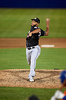 Charlotte Knights pitcher Jimmy Cordero (47) during an International League game against the Syracuse Mets on June 11, 2019 at NBT Bank Stadium in Syracuse, New York.  Syracuse defeated Charlotte 15-8.  (Mike Janes/Four Seam Images)