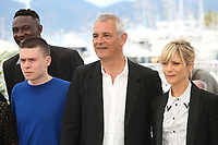 MAMADOU DOUMBIA, MATTHIEU LUCCI, DIRECTOR LAURENT CANTET AND MARINA FOIS - PHOTOCALL OF THE FILM 'L'ATELIER' AT THE 70TH FESTIVAL OF CANNES 2017
