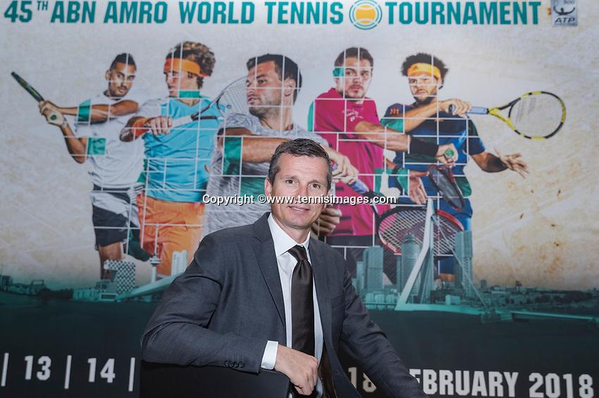 Amsterdam, Netherlands, Januari 10, 2017, Pressconference ABNAMROWTT 2018, Richard Krajicek, tournament director<br /> Photo: Tennisimages/Henk Koster