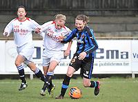 Club Brugge Dames - Heerenveen : Nicky Van Den Abbeele (rechts) aan de bal<br /> foto Joke Vuylsteke / nikonpro.be