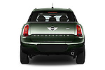 Straight rear view of 2016 MINI Countryman One 5 Door Hatchback Rear View  stock images
