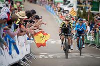 fellow Colombians Esteban Chavez (COL/Mitchelton-Scott) & Nairo Quintana (COL/Movistar) in the race finale towards the finish (at almost 2000m alt.)<br /> <br /> Stage 5: L'Eliana to Observatorio Astrofísico de Javalambre (171km)<br /> La Vuelta 2019<br /> <br /> ©kramon