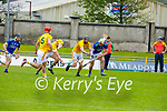 Tussle for possession between Kerry's Shane Nolan and Michael Burke as his team mates Séan Geraghty and James Toher look on,  in the National hurling league in Austin Stack Park on Sunday