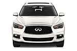 Car photography straight front view of a 2020 Infiniti QX60 Pure 5 Door SUV Front View