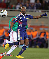 William Gallas of France in action against Mexico