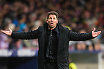 Coach Diego Simeone of Atletico de Madrid gestures during the La Liga 2017-18 match between Atletico de Madrid and Valencia CF at Wanda Metropolitano on February 04 2018 in Madrid, Spain. Photo by Diego Souto / Power Sport Images