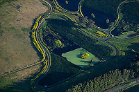 aerial photograph wetlands at Ellis Creek Water Recycling Facility, Petaluma, Sonoma county, California
