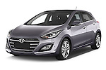 2015 Hyundai I30 Joy 5 Door Hatchback angular front stock photos of front three quarter view