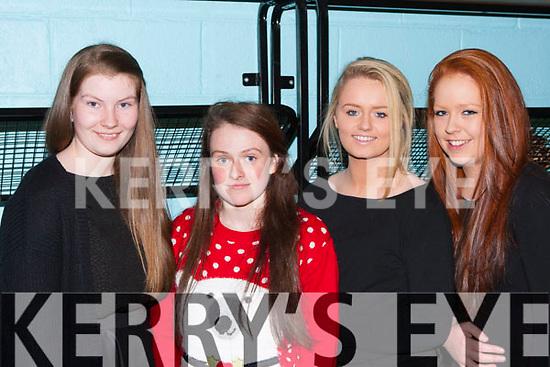 Grainne Dineen, Leah Herlihy, Jordyn Tuohy and Michelle O'Sullivan enjoying the Killarney Community College fashion show on Wednesday evening