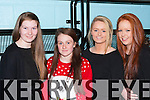 Grainne Dineen, Leah Herlihy, Jordyn Tuohy and Michelle O'Sullivan enjoying the Killarney Community College fashion show on Wednesday evening