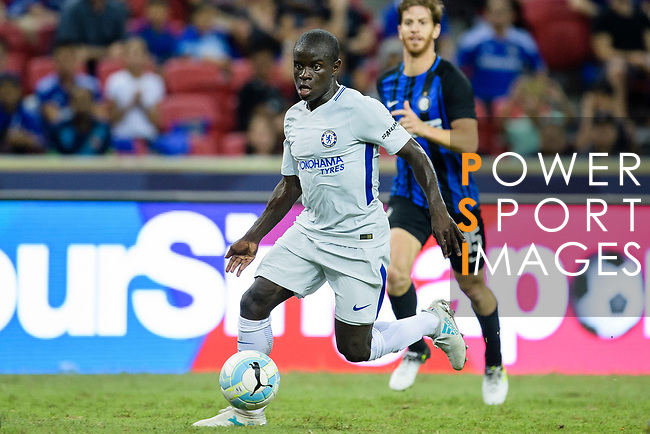Chelsea Midfielder N'Golo Kante in action during the International Champions Cup 2017 match between FC Internazionale and Chelsea FC on July 29, 2017 in Singapore. Photo by Weixiang Lim / Power Sport Images