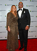 """Christopher Jackson, who was nominated for a Tony Award for originating the role of George Washington in """"Hamilton,"""" arrives with his wife, Veronica Jackson for the formal Artist's Dinner honoring the recipients of the 41st Annual Kennedy Center Honors hosted by United States Deputy Secretary of State John J. Sullivan at the US Department of State in Washington, D.C. on Saturday, December 1, 2018. The 2018 honorees are: singer and actress Cher; composer and pianist Philip Glass; Country music entertainer Reba McEntire; and jazz saxophonist and composer Wayne Shorter. This year, the co-creators of Hamilton, writer and actor Lin-Manuel Miranda, director Thomas Kail, choreographer Andy Blankenbuehler, and music director Alex Lacamoire will receive a unique Kennedy Center Honors as trailblazing creators of a transformative work that defies category.<br /> Credit: Ron Sachs / Pool via CNP"""