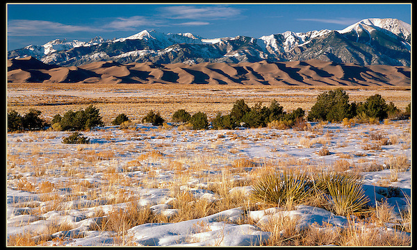 """Great Sand Dunes National Park, from John's 3rd book, """"Mastering Nature Photography"""".<br /> John leads private photo tours throughout Colorado, in all seasons. John offers private photo tours to Great Sand Dunes National Park and Rocky Mountain National Park, Colorado."""