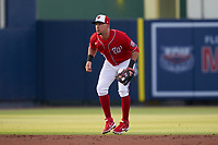 Washington Nationals shortstop Hernán Pérez (3) during a Major League Spring Training game against the Miami Marlins on March 20, 2021 at FITTEAM Ballpark of the Palm Beaches in Palm Beach, Florida.  (Mike Janes/Four Seam Images)