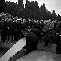 Obsèques de Vincent Auriol,le  3 Janvier 1966,Toulouse, FRANCE<br /> <br /> AURIOL fut President de la France  du 16 JANVIER 1947 qu 16 JANVIER 1954, Ildecede le 1er JANVIER 1966