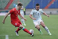 6th June 2021, Stade Josy Barthel, Luxemburg; International football friendly Luxemburg versus Scotland; Enes Mahmutovic Luxembourg is taken on by John McGinn Scotland